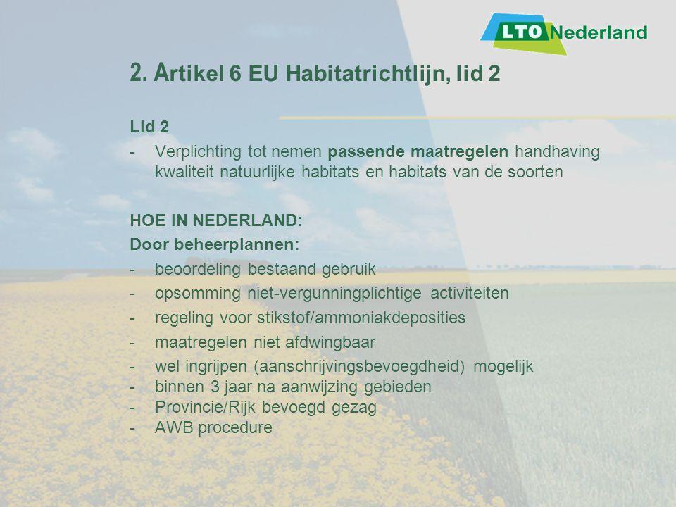 2. Artikel 6 EU Habitatrichtlijn, lid 2