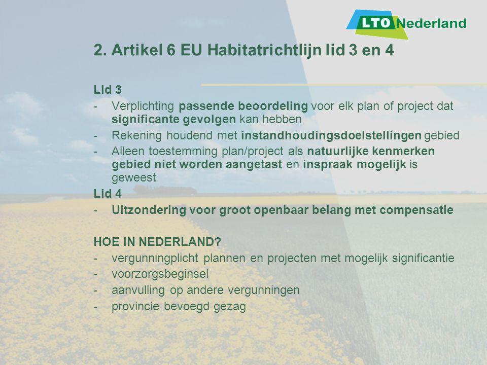 2. Artikel 6 EU Habitatrichtlijn lid 3 en 4