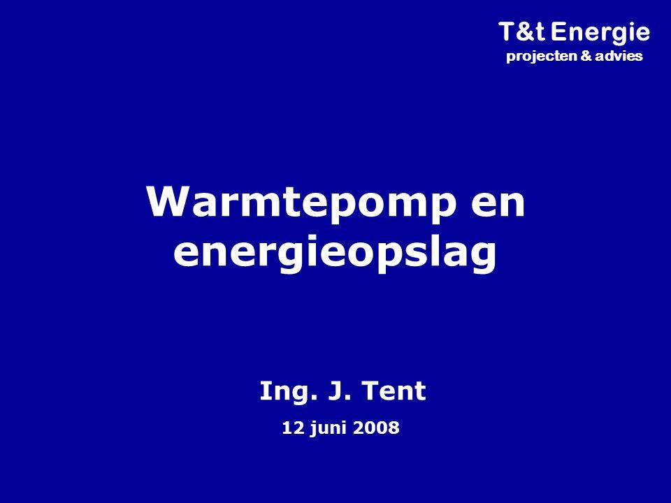 Warmtepomp en energieopslag Ing. J. Tent 12 juni 2008