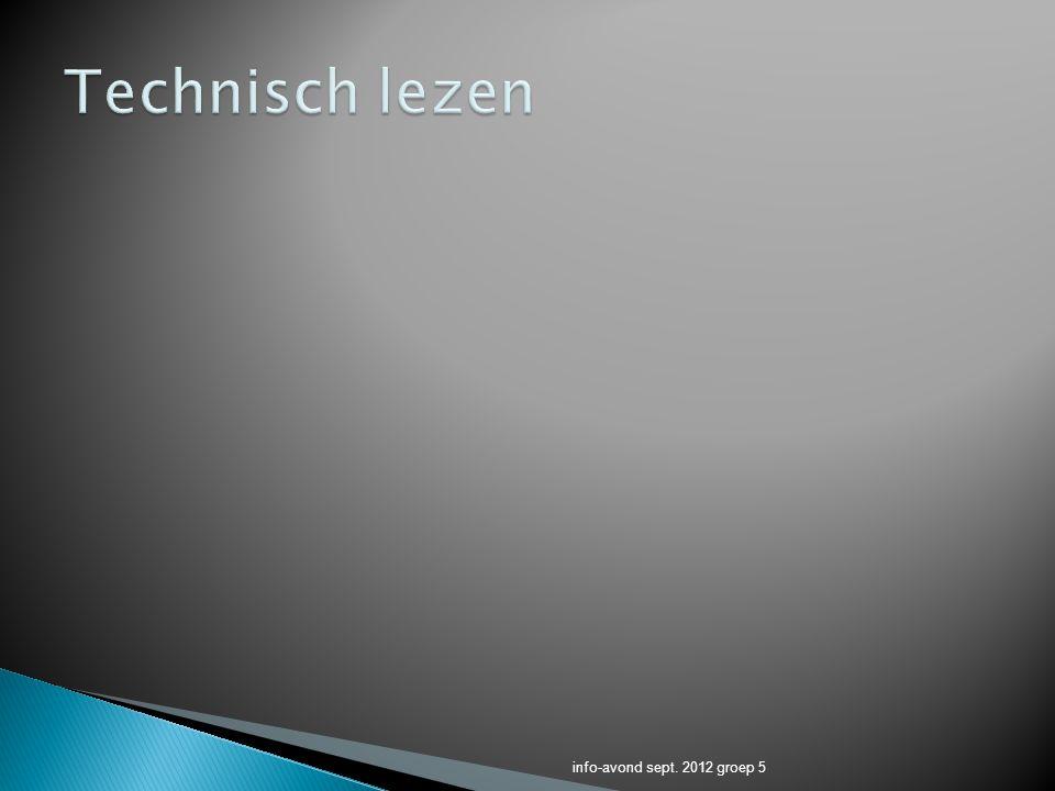 Technisch lezen info-avond sept. 2012 groep 5