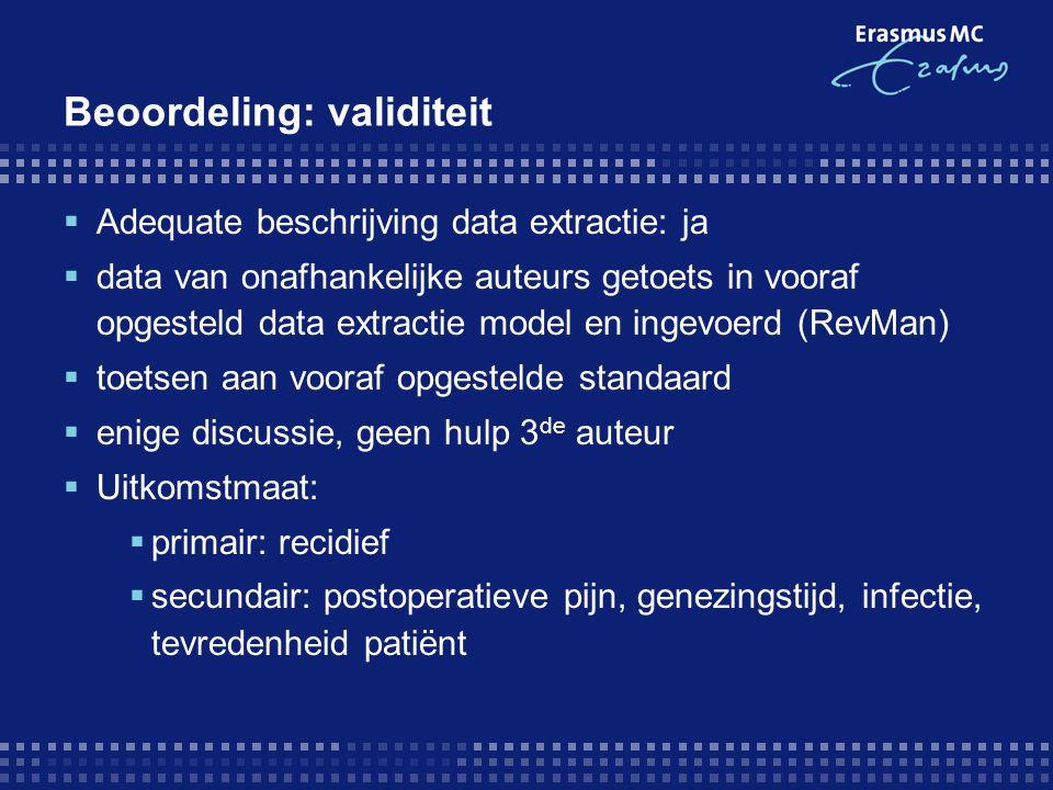 Beoordeling: validiteit
