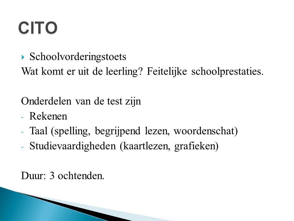 CITO Schoolvorderingstoets