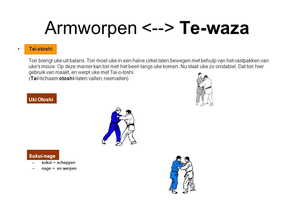 Armworpen <--> Te-waza