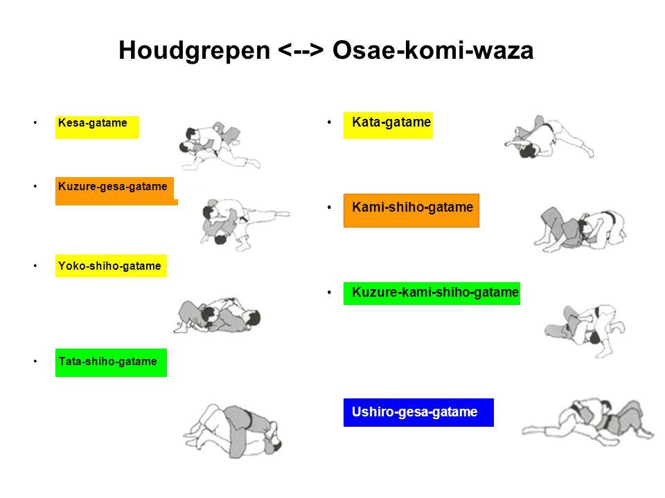 Houdgrepen <--> Osae-komi-waza