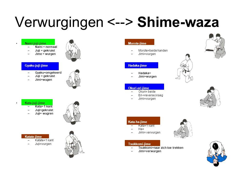 Verwurgingen <--> Shime-waza