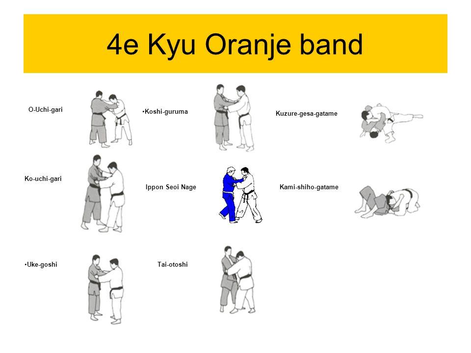4e Kyu Oranje band O-Uchi-gari Koshi-guruma Kuzure-gesa-gatame