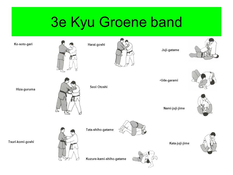 3e Kyu Groene band Ko-soto-gari Harai-goshi Juji-gatame Ude-garami