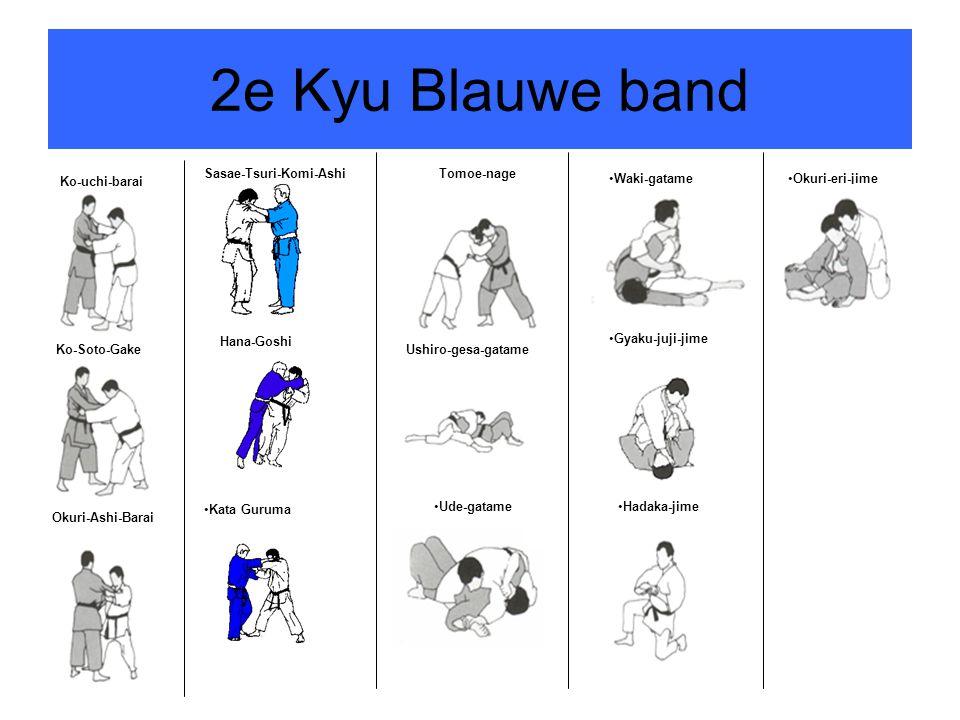 2e Kyu Blauwe band Sasae-Tsuri-Komi-Ashi Tomoe-nage Ko-uchi-barai