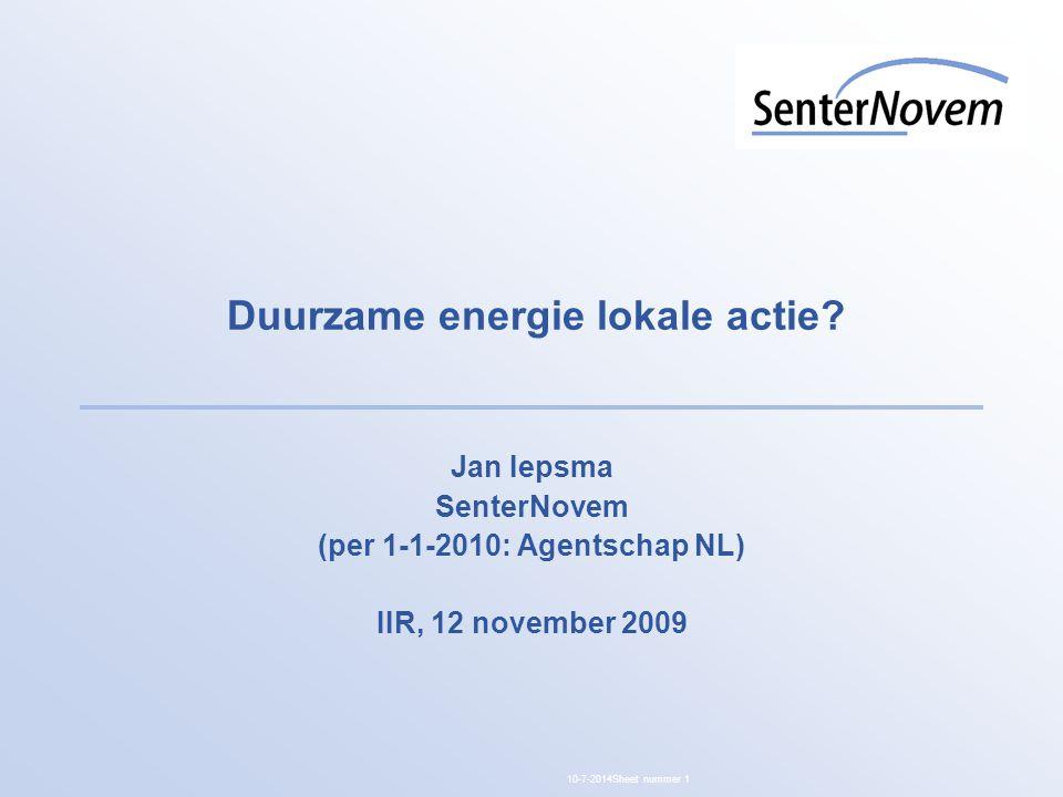 Duurzame energie lokale actie