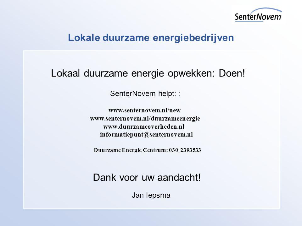 Lokale duurzame energiebedrijven