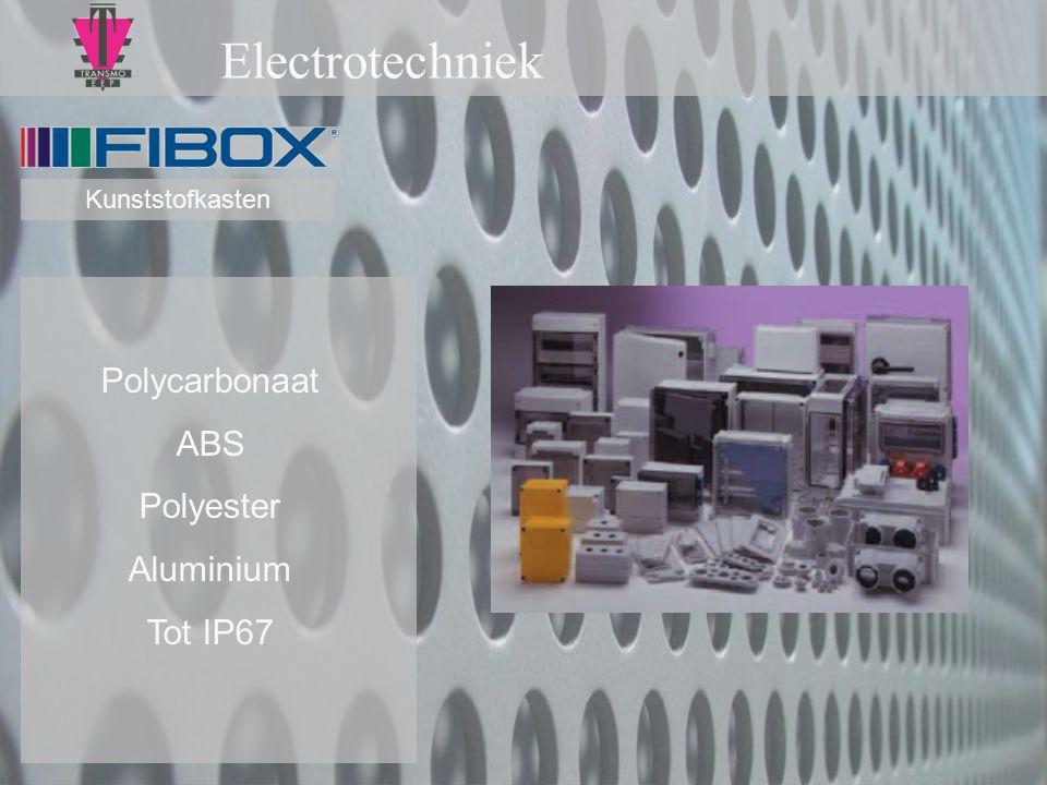 Electrotechniek Polycarbonaat ABS Polyester Aluminium Tot IP67