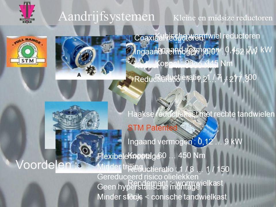Aandrijfsystemen Kleine en midsize reductoren