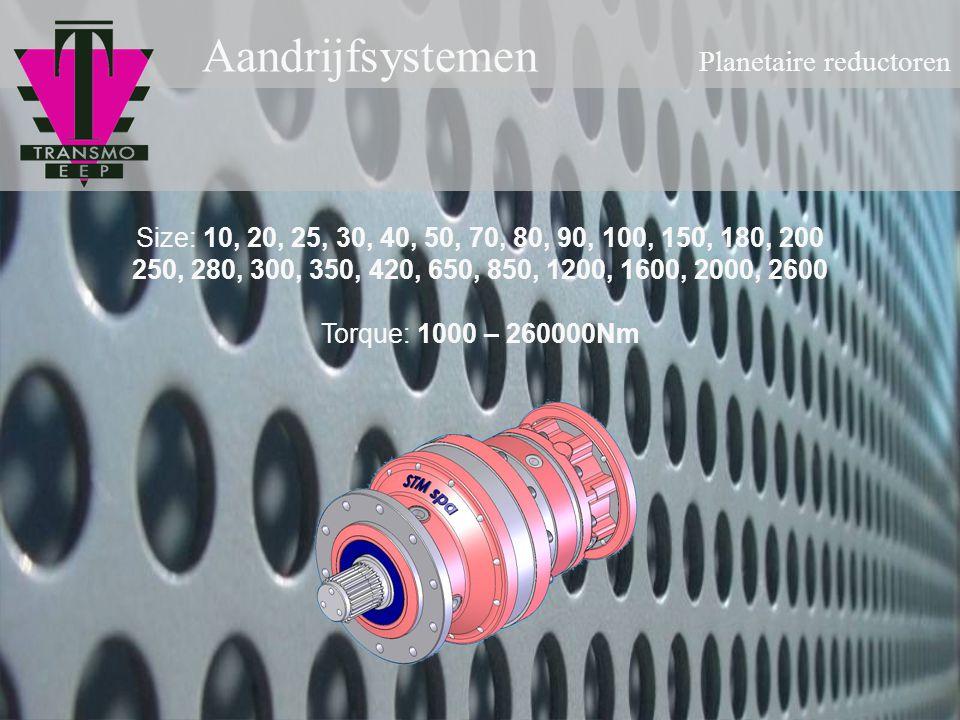 Aandrijfsystemen Planetaire reductoren