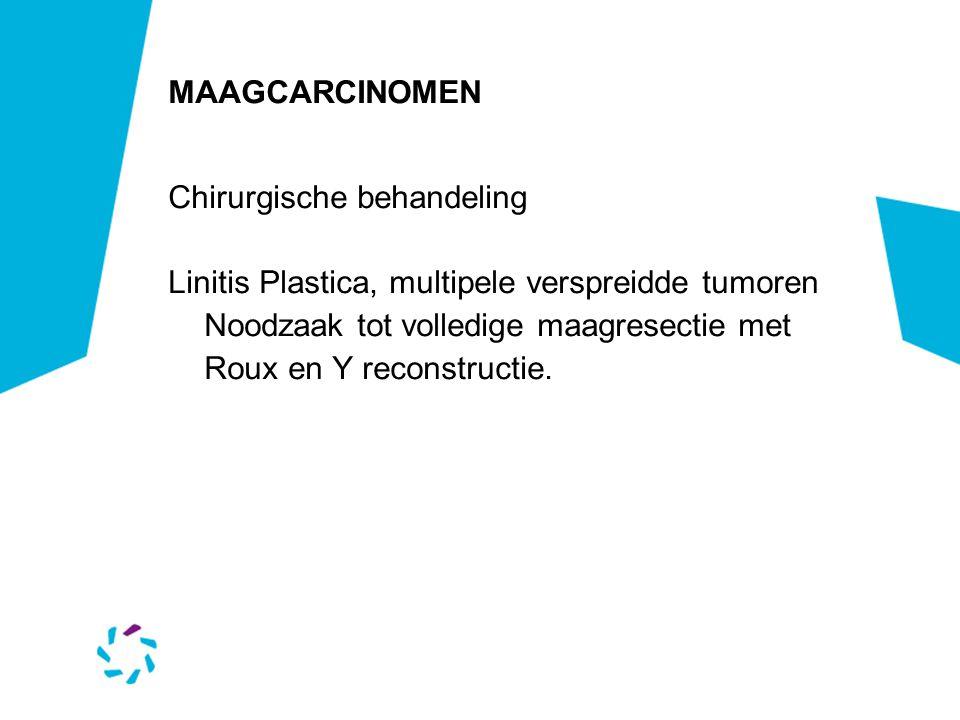 MAAGCARCINOMEN Chirurgische behandeling. Linitis Plastica, multipele verspreidde tumoren.
