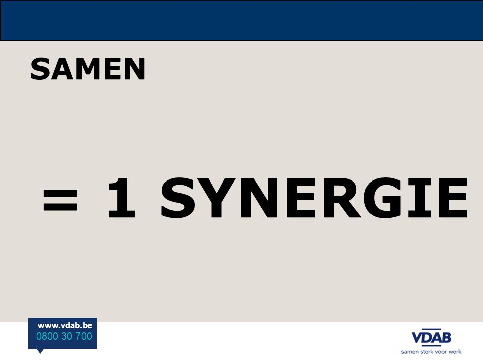 SAMEN = 1 SYNERGIE