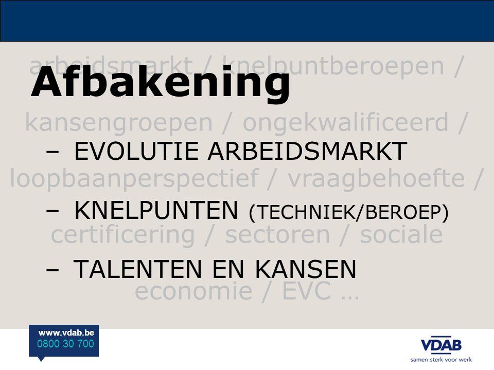 arbeidsmarkt / knelpuntberoepen / kansengroepen / ongekwalificeerd / loopbaanperspectief / vraagbehoefte / certificering / sectoren / sociale economie / EVC …