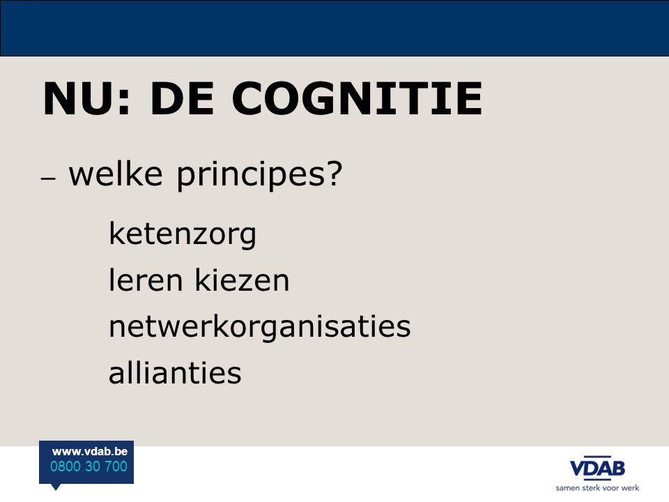 NU: DE COGNITIE ketenzorg leren kiezen netwerkorganisaties allianties