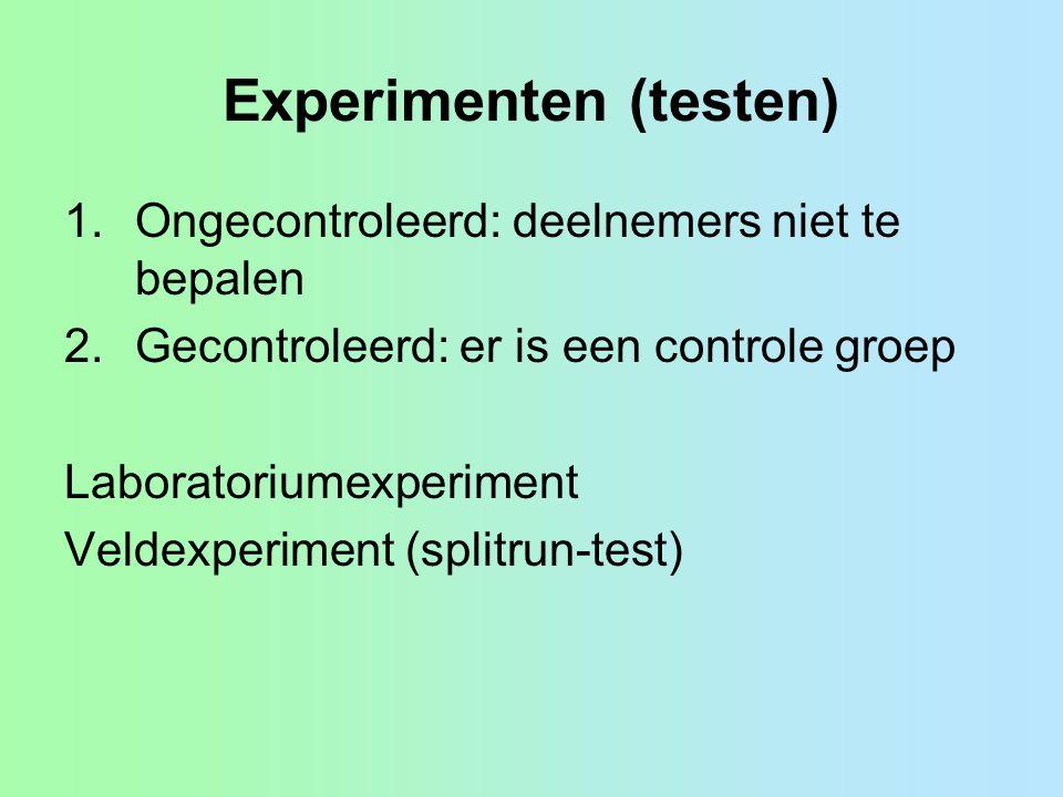 Experimenten (testen)