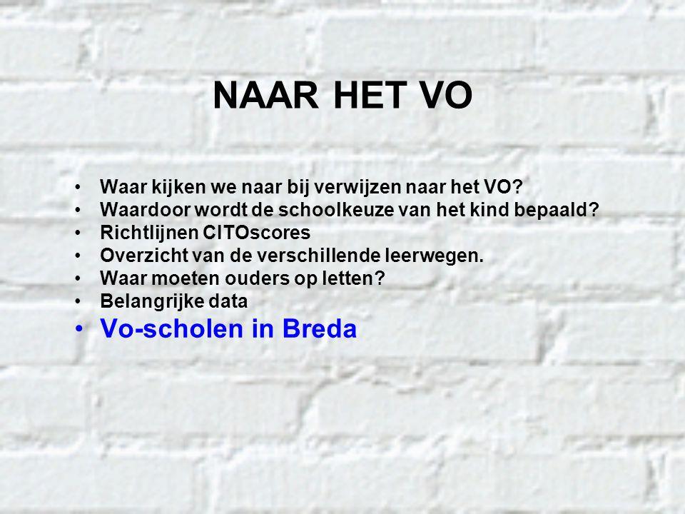 NAAR HET VO Vo-scholen in Breda