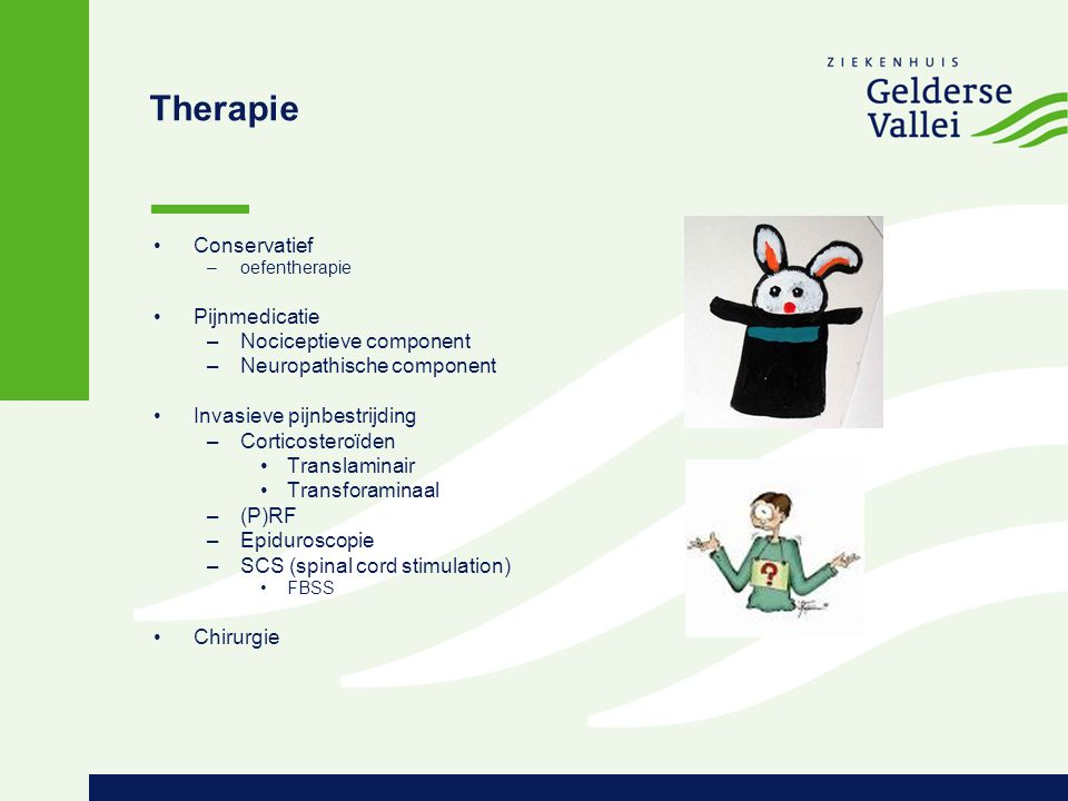 Therapie Conservatief Pijnmedicatie Nociceptieve component
