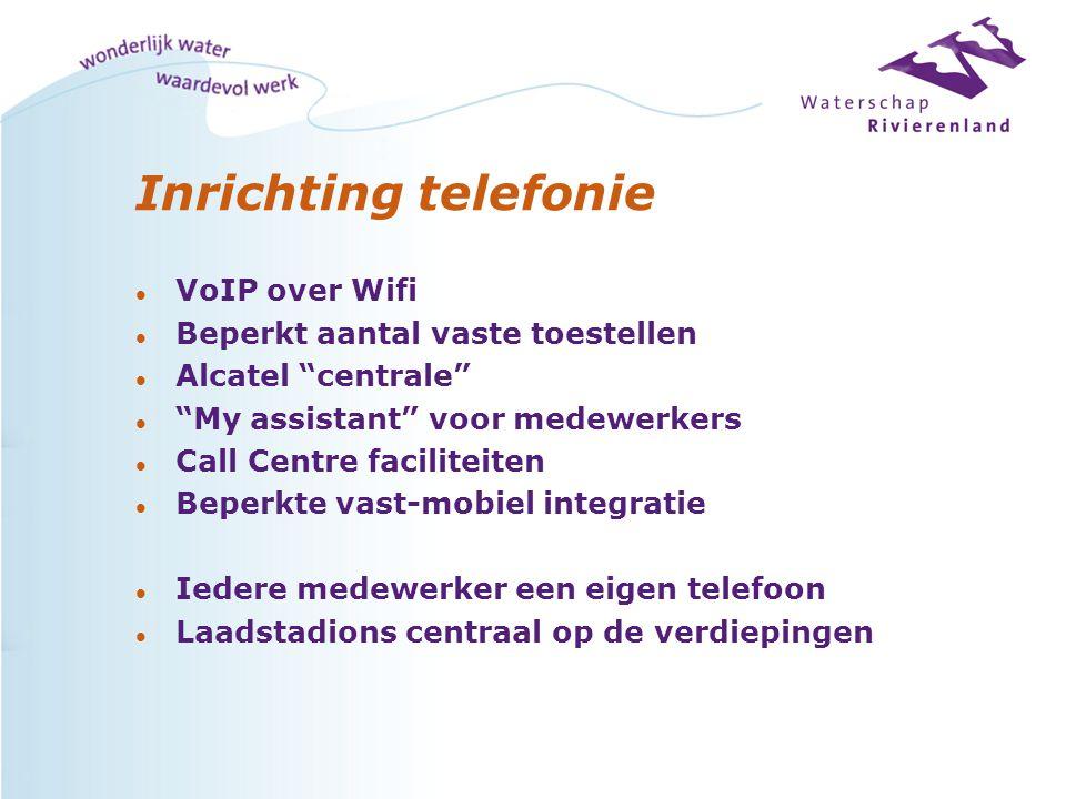 Inrichting telefonie VoIP over Wifi Beperkt aantal vaste toestellen