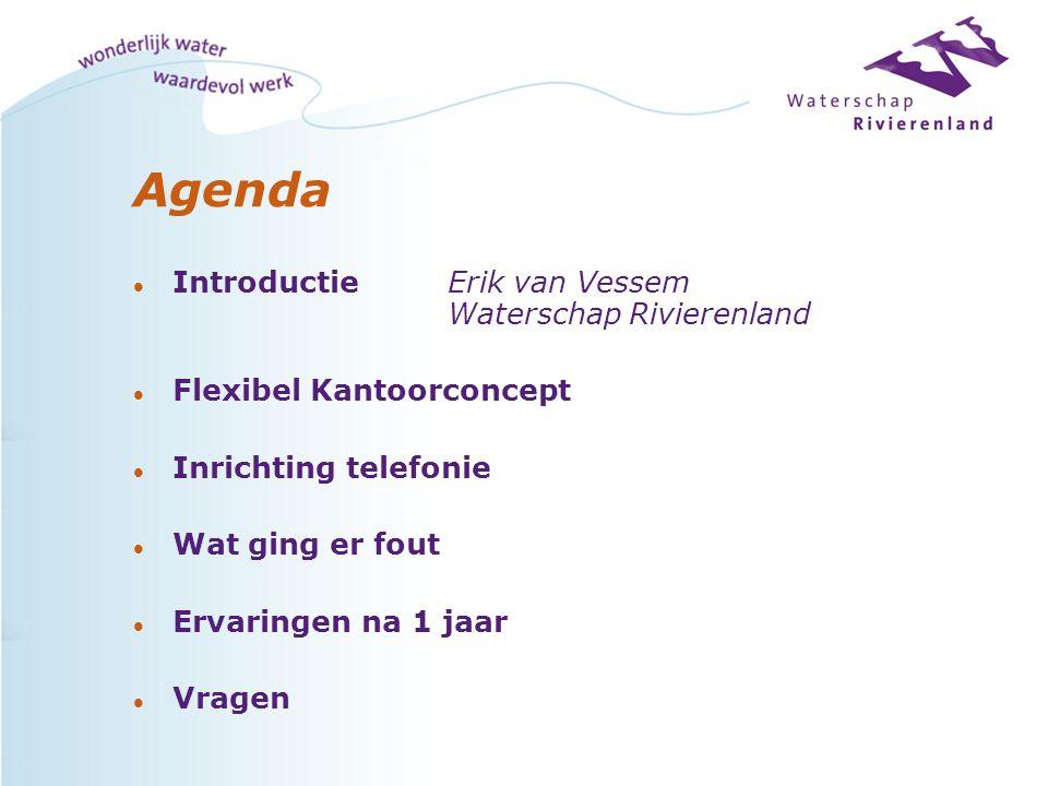 Agenda Introductie Erik van Vessem Waterschap Rivierenland