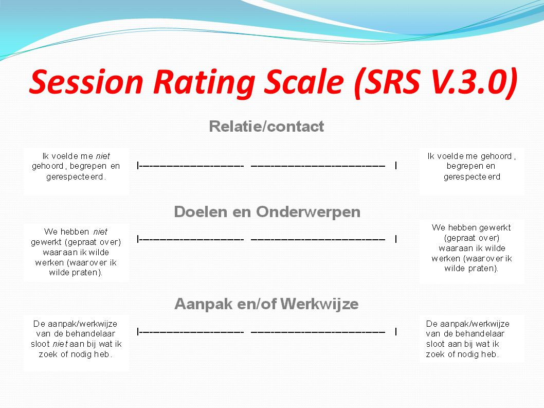 Session Rating Scale (SRS V.3.0)