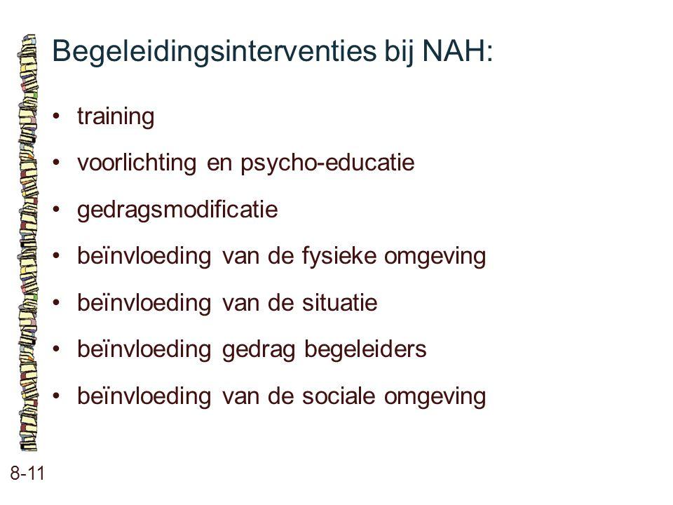 Begeleidingsinterventies bij NAH: