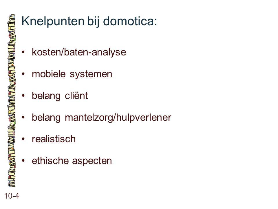 Knelpunten bij domotica: