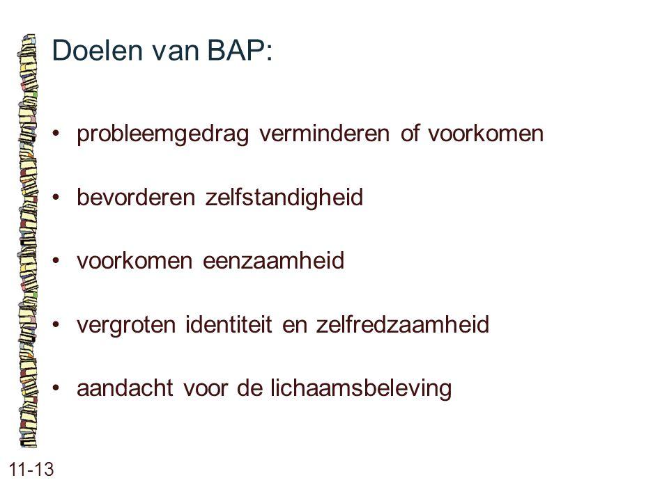 Doelen van BAP: • probleemgedrag verminderen of voorkomen