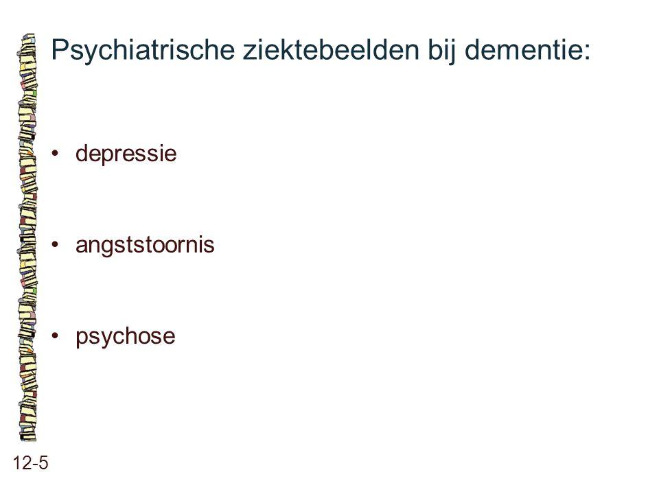 Psychiatrische ziektebeelden bij dementie: