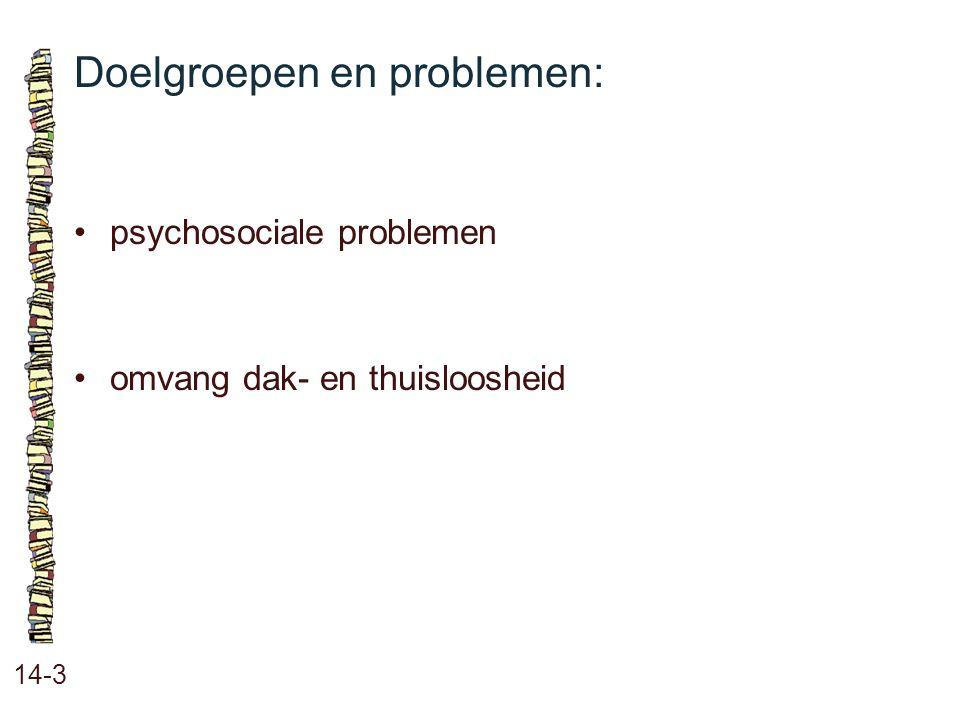 Doelgroepen en problemen: