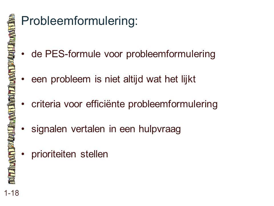 Probleemformulering: