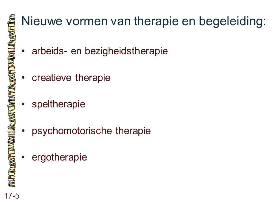 Nieuwe vormen van therapie en begeleiding: