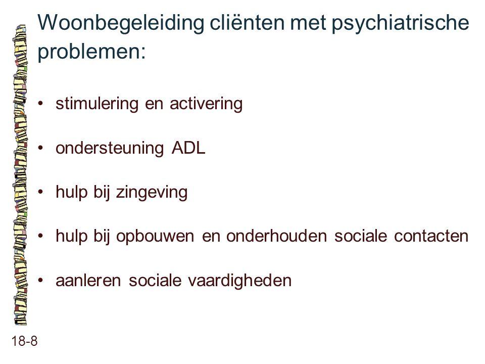 Woonbegeleiding cliënten met psychiatrische problemen:
