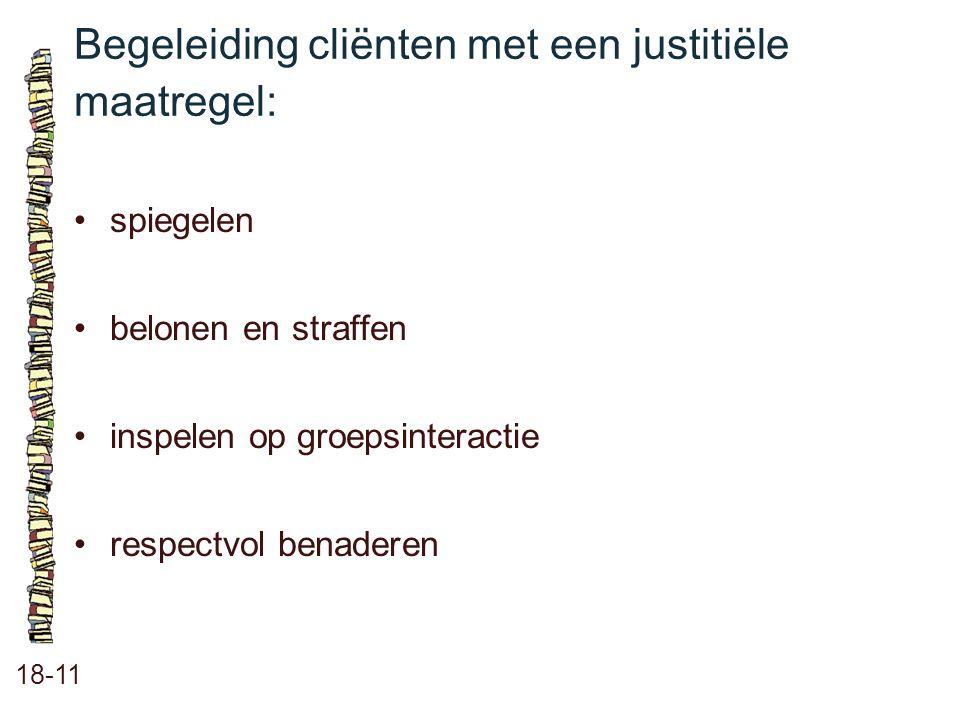 Begeleiding cliënten met een justitiële maatregel:
