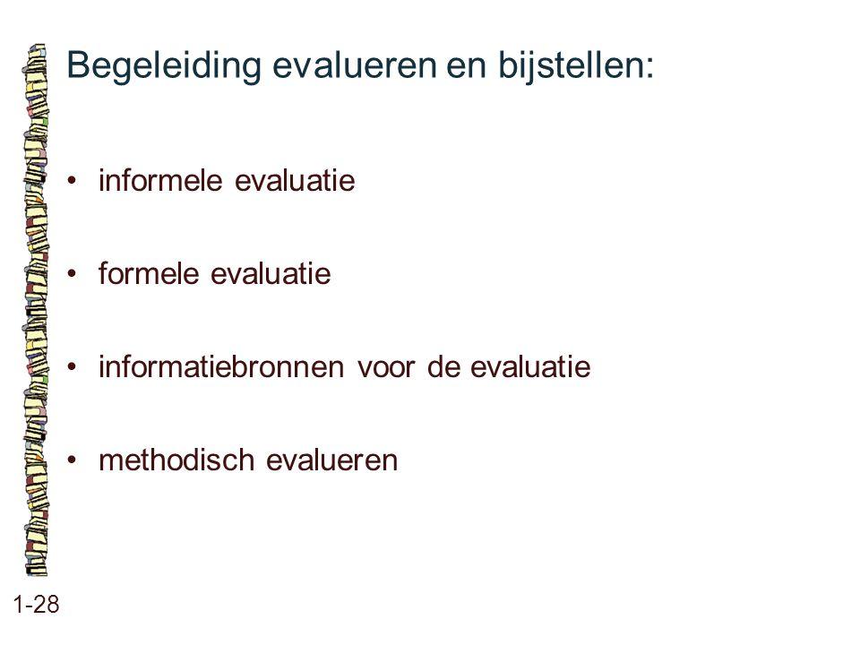 Begeleiding evalueren en bijstellen: