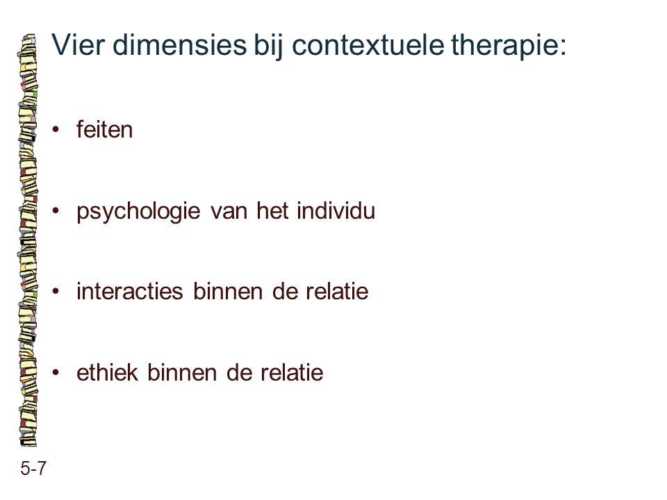Vier dimensies bij contextuele therapie: