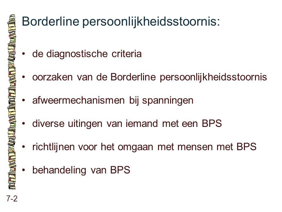 Borderline persoonlijkheidsstoornis: