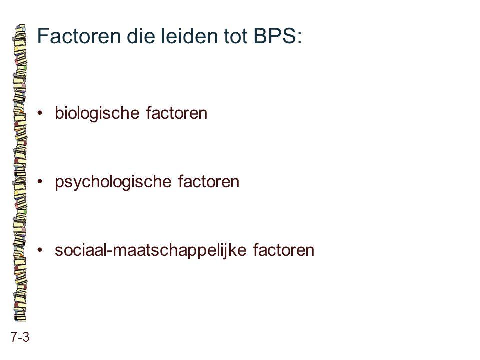 Factoren die leiden tot BPS: