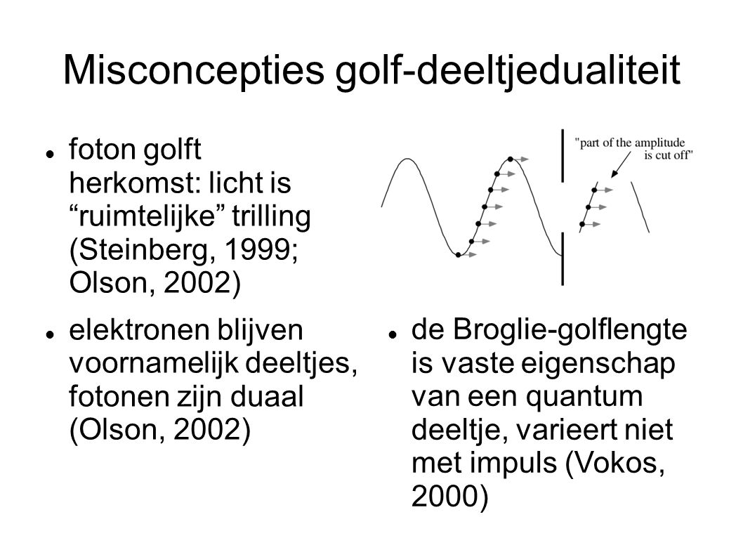 Misconcepties golf-deeltjedualiteit