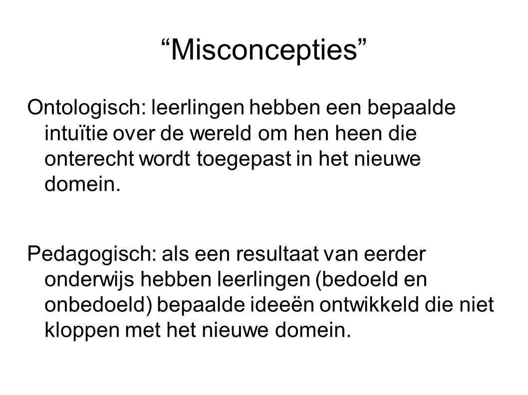 Misconcepties