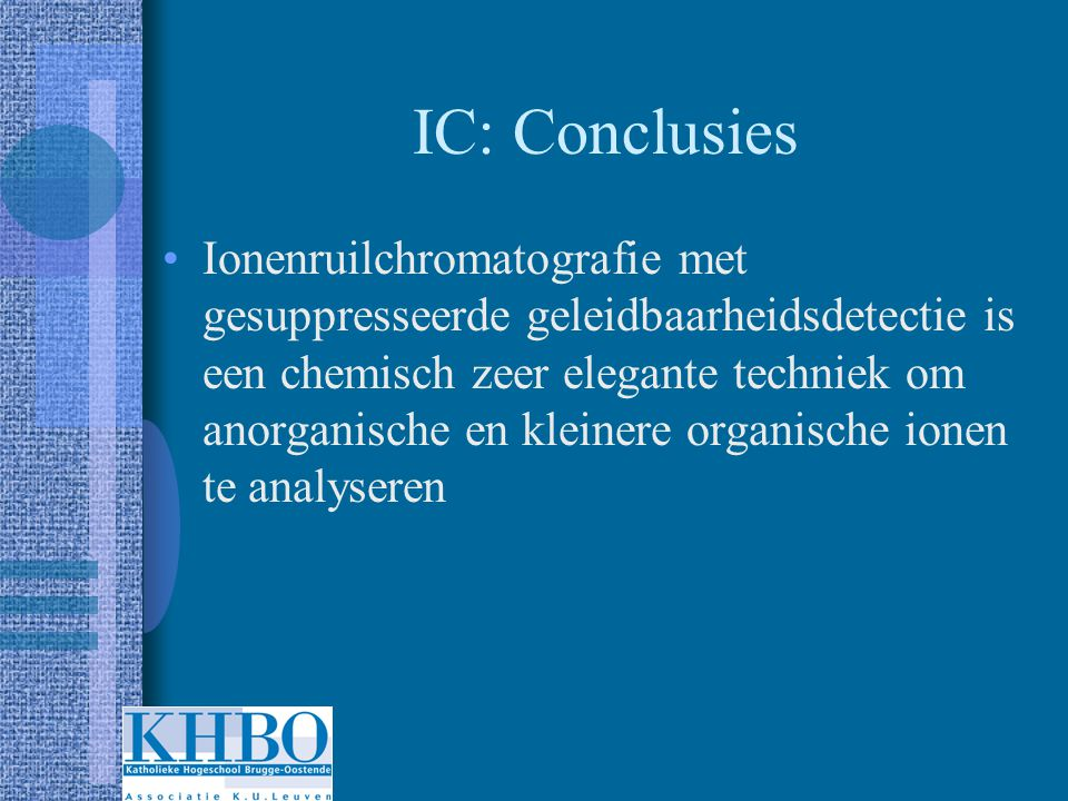 IC: Conclusies
