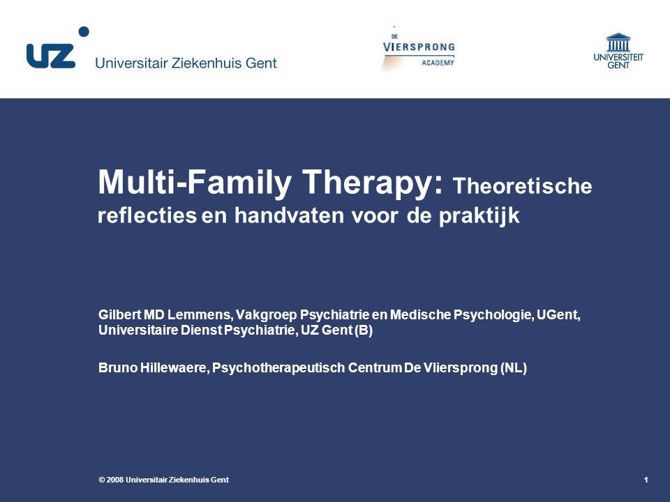 Multi-Family Therapy: Theoretische reflecties en handvaten voor de praktijk