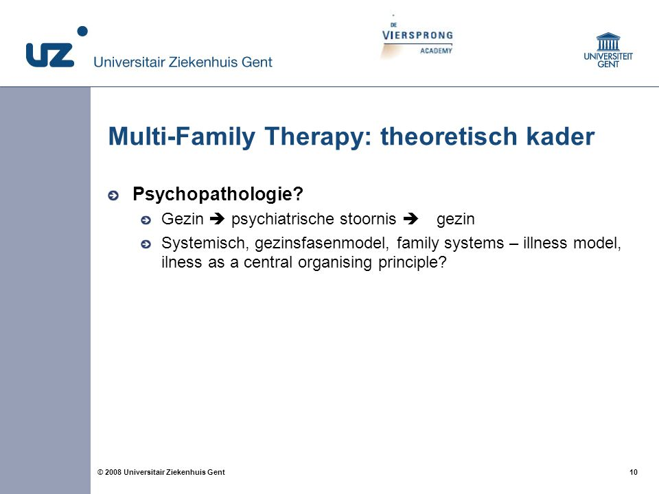Multi-Family Therapy: theoretisch kader