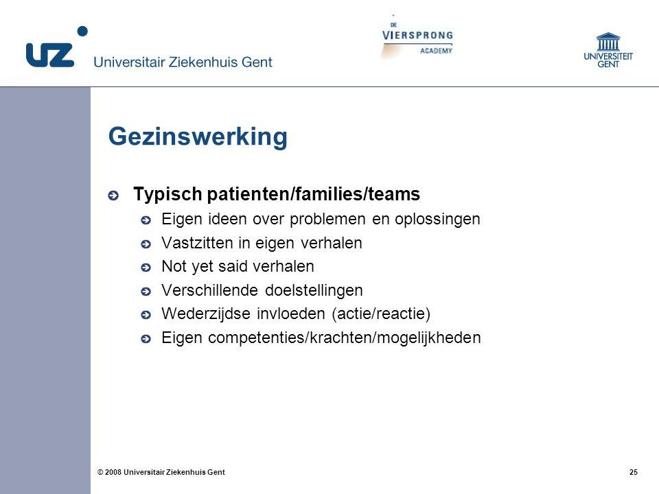 Gezinswerking Typisch patienten/families/teams