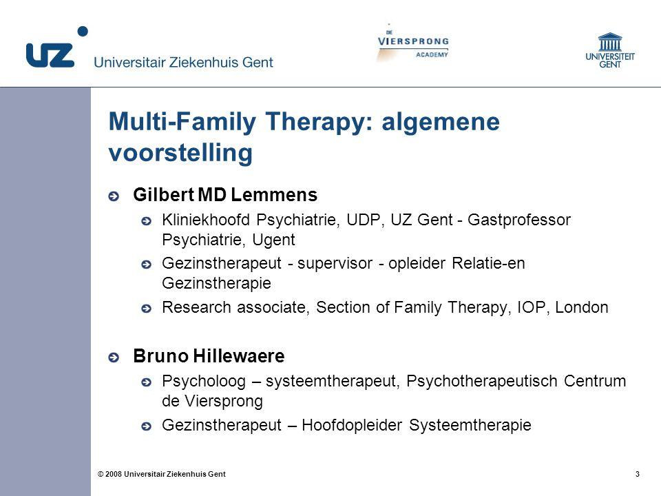 Multi-Family Therapy: algemene voorstelling