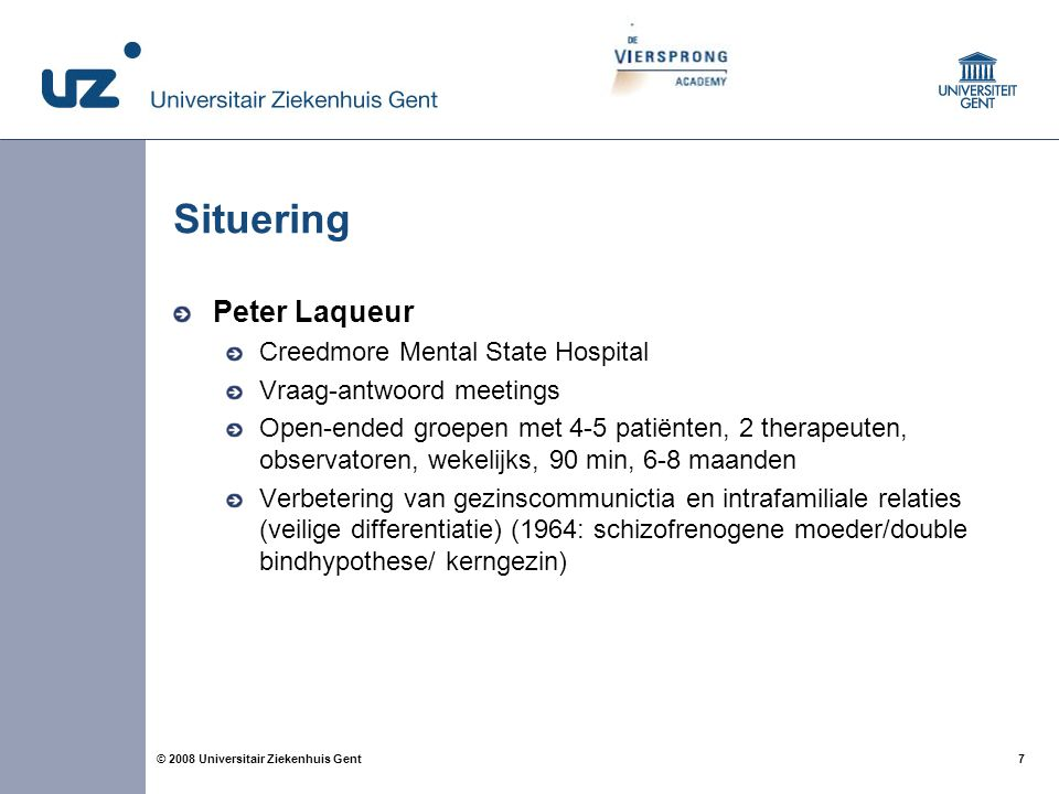 Situering Peter Laqueur Creedmore Mental State Hospital
