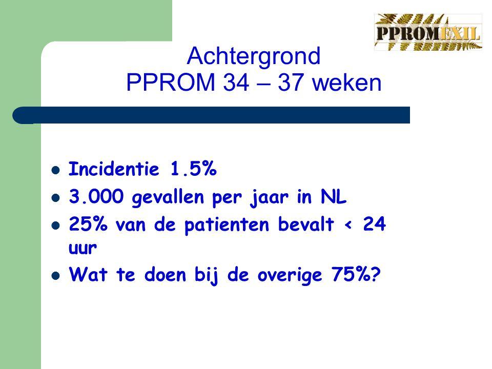 Achtergrond PPROM 34 – 37 weken