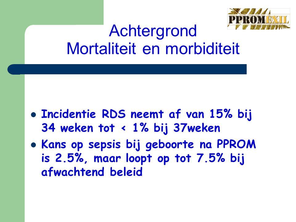 Achtergrond Mortaliteit en morbiditeit